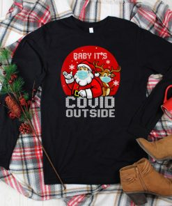 Official Baby Its Covid Outside Santa Ugly Christmas Sweater Holiday T Shirt 1