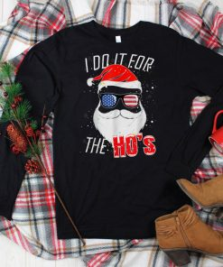 Official I Do It For The Hos Christmas American Sunglasses Hat Funny T Shirt