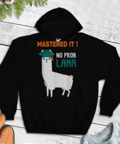 Official Mastered It No Prob Llama Class Of 2021 Gift T Shirt