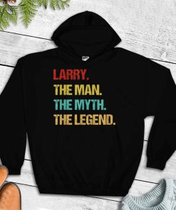 Official Mens Larry The Man The Myth The Legend T Shirt