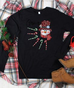 Official Snowman Gram Candy Cane Red Plaid Christmas Gifts T Shirt