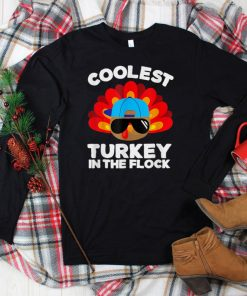 Official Thanksgiving Day Funny Coolest Turkey In The Flock T Shirt 1
