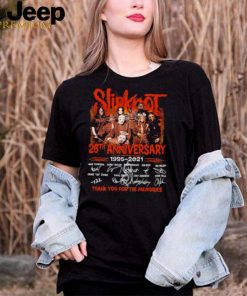 Slipknot 26th anniversary 1995 thank you for the memories signatures shirt