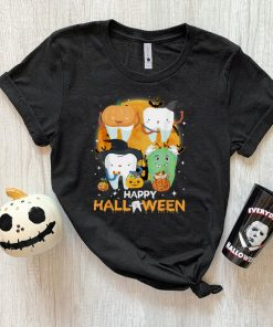 Funny Dental Dentist Boo Witch Happy Halloween Costume T Shirt